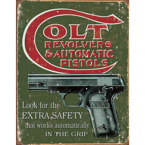 Colt Extra Safety Tin Sign - Indy Army Navy