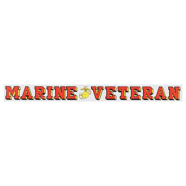 Marine Veteran Window Strip Decal