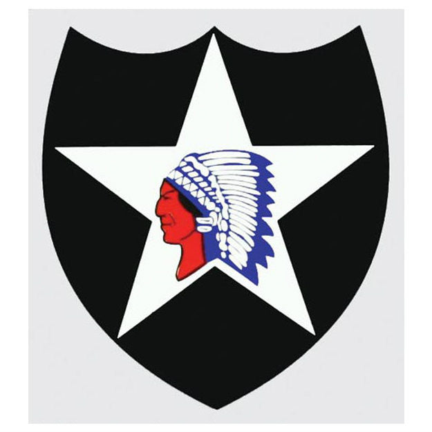 2nd Infantry Division / Indian Head Decal - Indy Army Navy
