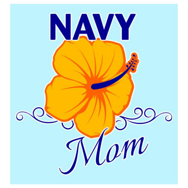 Navy Mom With Flower Decal - Indy Army Navy