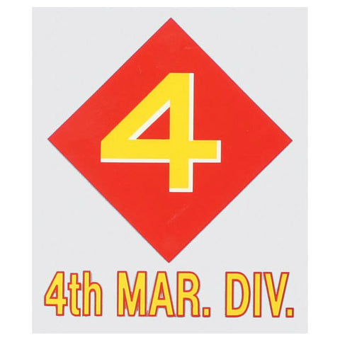 4th Marine Division Decal - Indy Army Navy