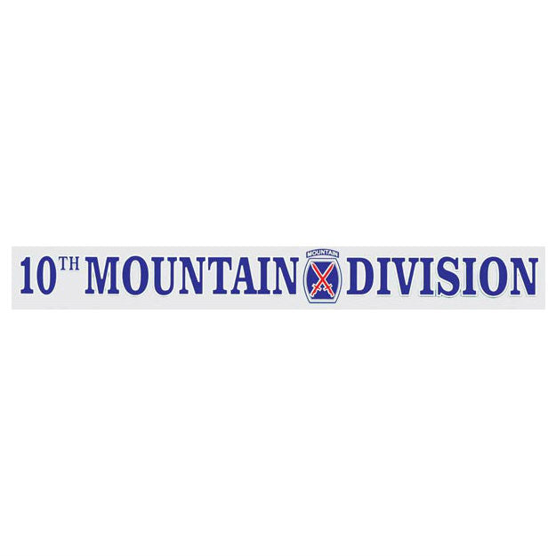 10th Mountain Division Window Strip Decal - Indy Army Navy