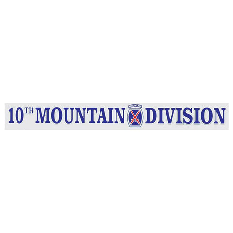 10th Mountain Division Window Strip Decal