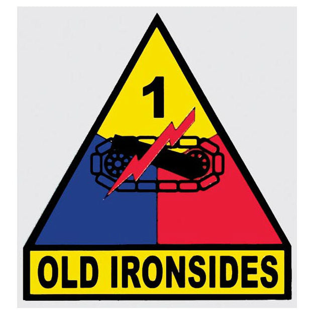 "1st Armored ""Old Ironsides"" Division Decal - Indy Army Navy"