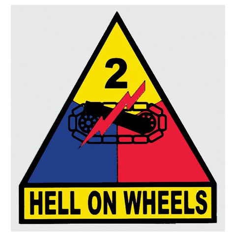 "2nd Armored ""Hell on Wheels"" Division Decal"