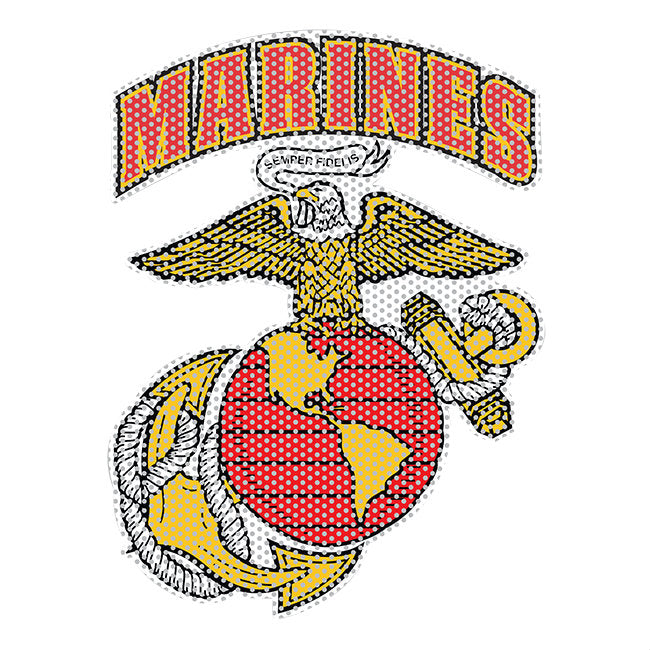 "Marines EGA Perforated Window Vinyl Transfer (10"" x 13"")"