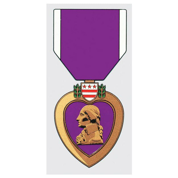 Purple Heart Decal