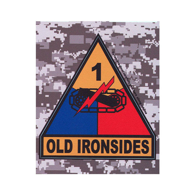ACU 1st Armored Division Decal