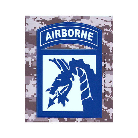 ACU 18th Airborne Decal