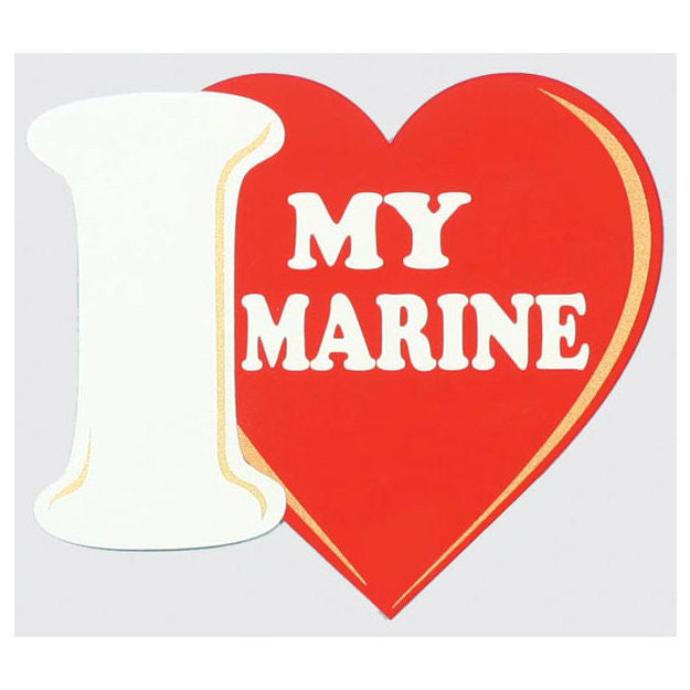 I (Heart) My Marine Decal