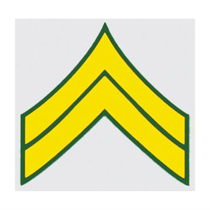 Army E-4 Corporal Rank Decal