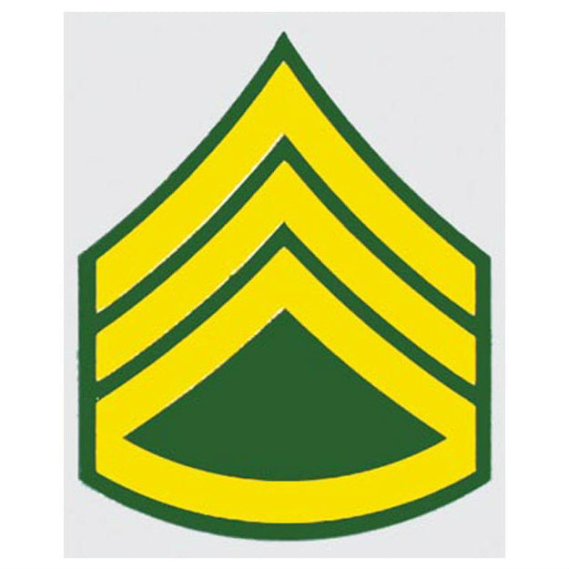 Army E-6 Staff Sergeant Decal