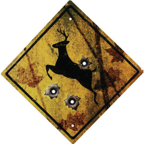 Deer Crossing Tin Sign