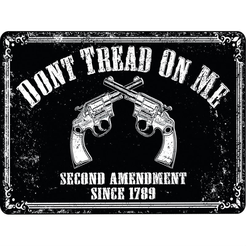 Don't Tread On Me Second Amendment Tin Sign