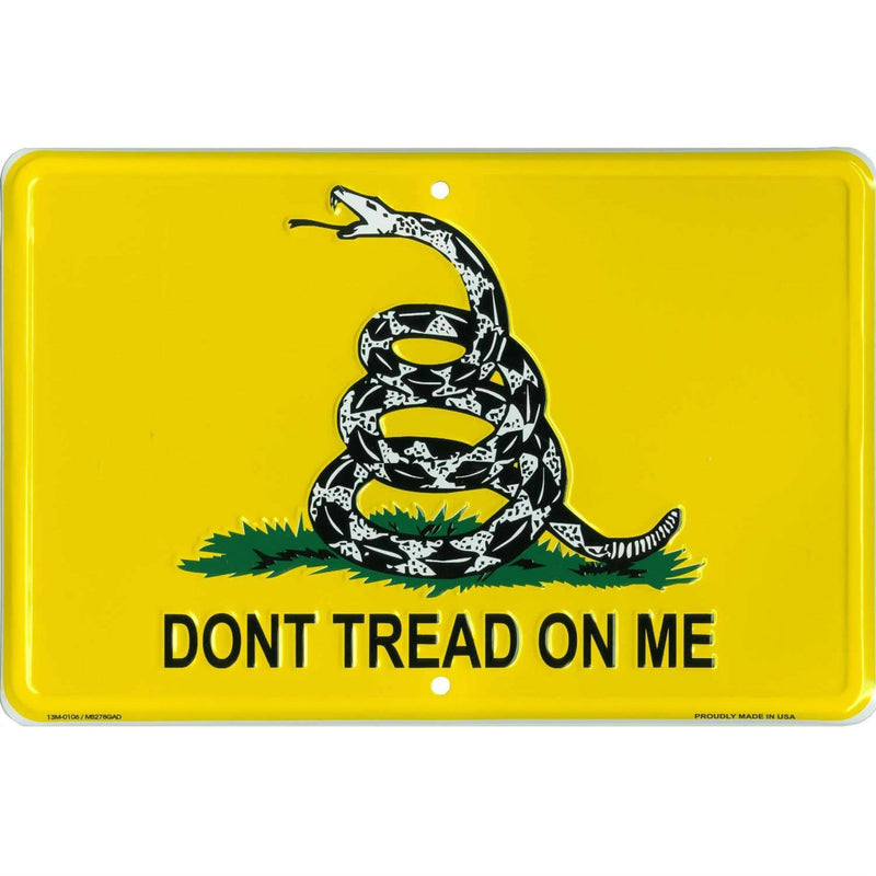Gadsden Don't Tread on Me Metal Parking Sign