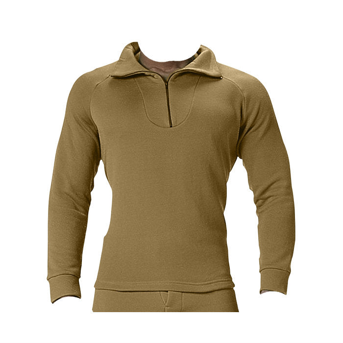 ECWCS Polyester Extreme Cold Zip Collar Top AR670-1 Coyote