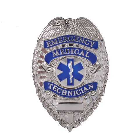 Silver Emergency Medical Technician Badge