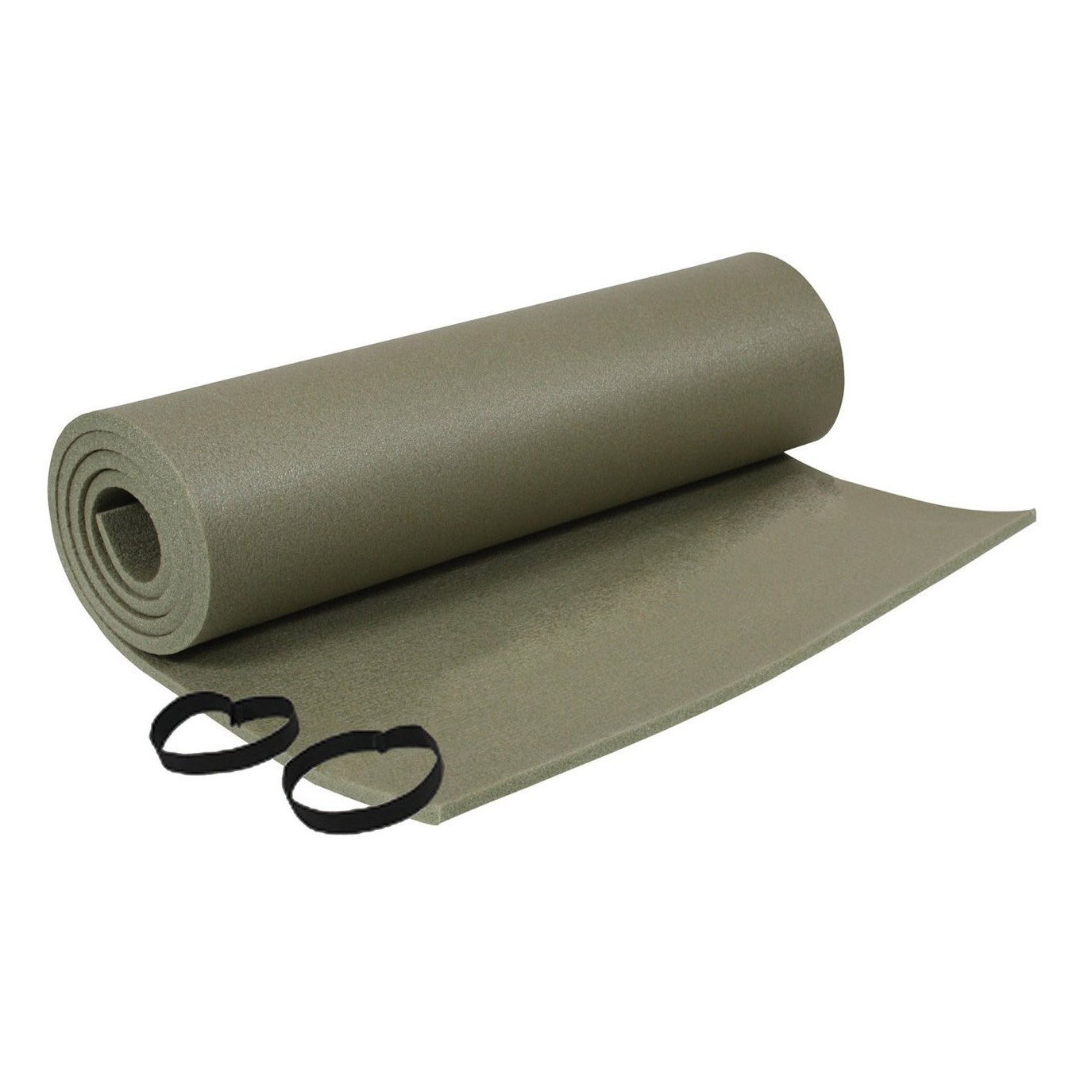 Foam Sleeping Pad With Straps Olive