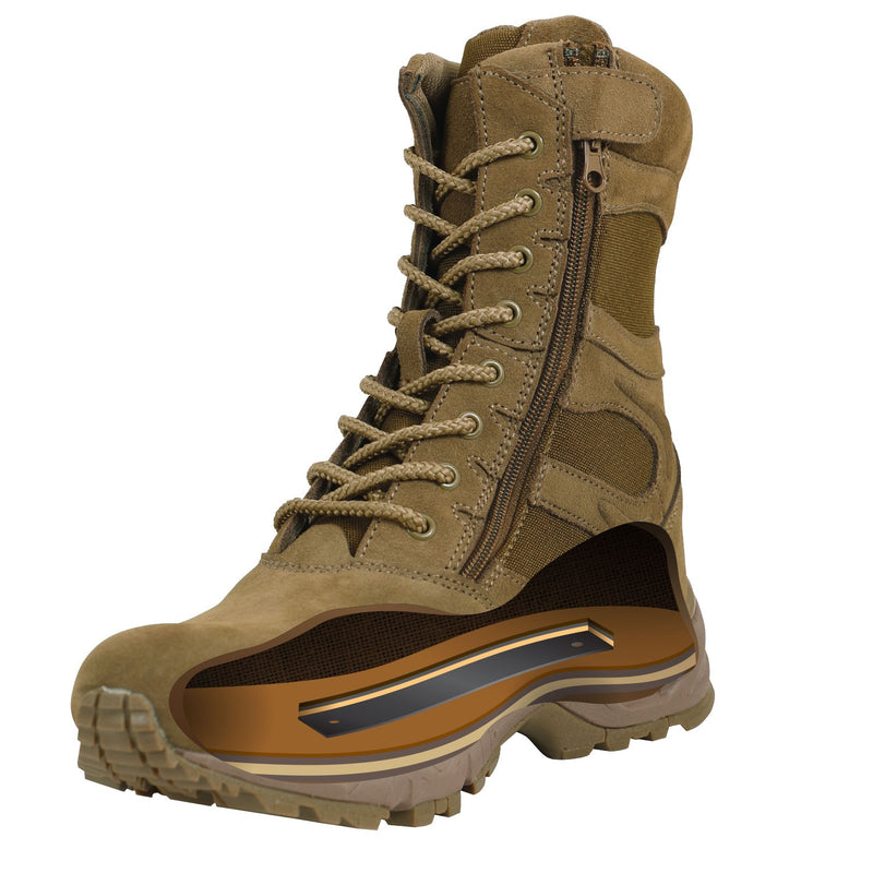 Forced Entry Side Zip Boots AR-670 Coyote