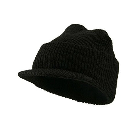 GI Wool Jeep Cap Black
