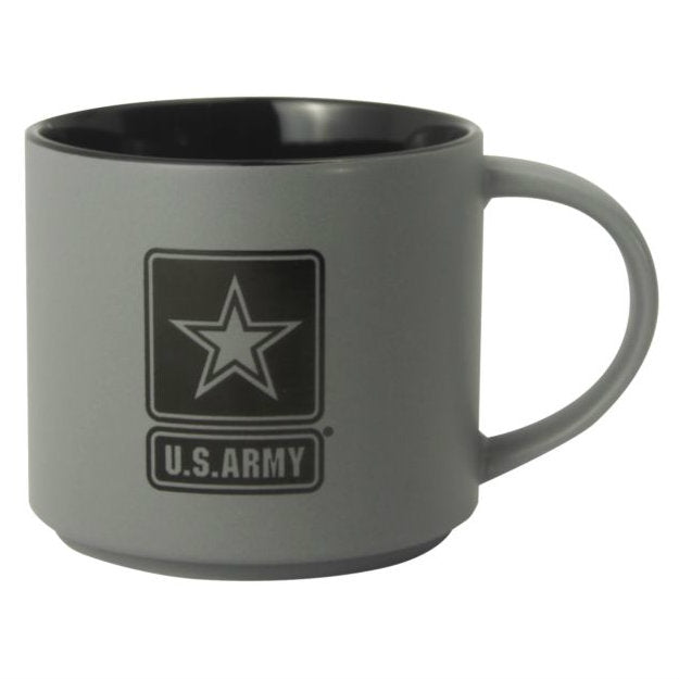 Army Star 16oz Stoneware Mug Gray / Black