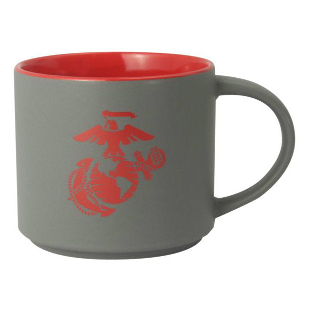 Marine EGA 16oz Stoneware Mug Gray / Red