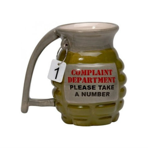 Grenade Complaint Department Mug 16oz.