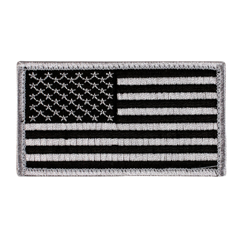 Hook & Loop American Flag Silver / Black