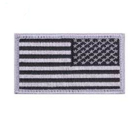 Hook & Loop Reverse American Flag Silver / Black