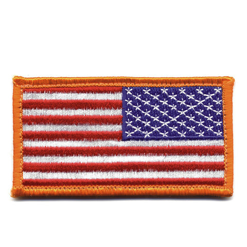 Hook & Loop Reverse American Flag Patch