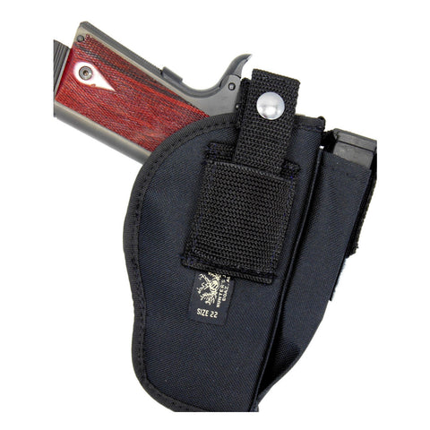 "Belt Clip OWB Thumb Break Holster With Mag Pouch For 1911's  & Most Large Frame Semi Autos With 5"" - 6"" Barrels"