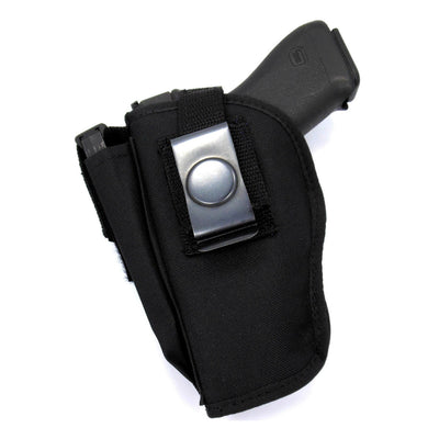 "Belt Clip OWB Thumb Break Holster With Mag Pouch For Glock 19/23, 17/22, XD9, XD40, Sig P226, S&W, & Most Medium Frame Semi Autos With 3 1/2"" - 4"" Barrels"