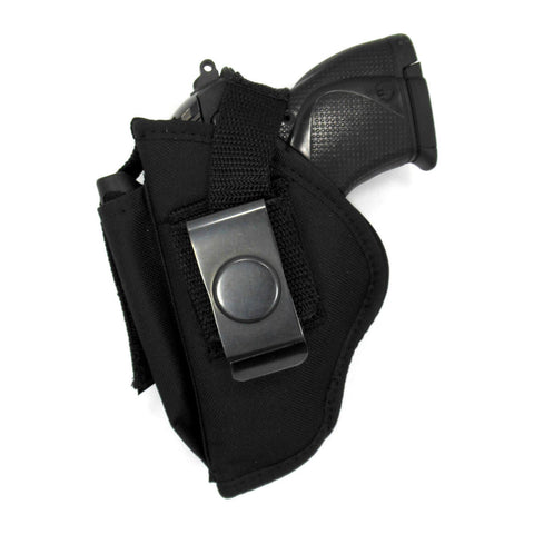 "Belt Clip OWB Thumb Break Holster With Mag Pouch For Most 3"" Subcompact Semi Autos, Walther PPK, Bursa Thunder, Makarov"