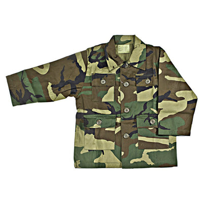 Kids BDU Shirt Woodland