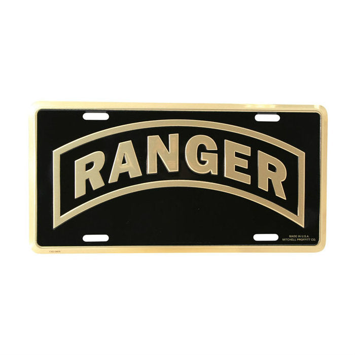Ranger Tab Metal License Plate
