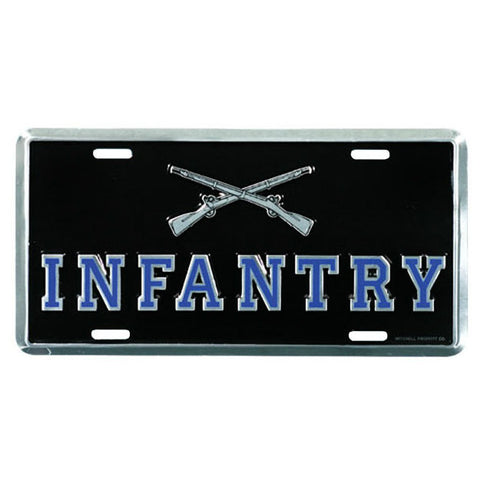 Army Infantry Metal License Plate