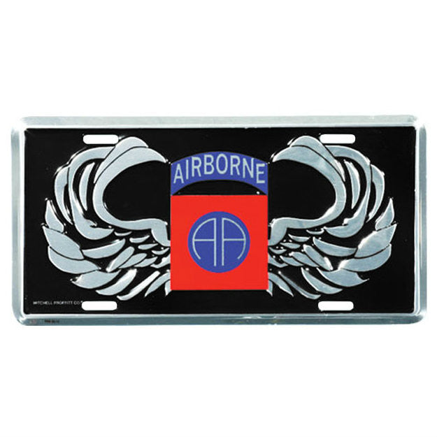 82nd Airborne Metal License Plate