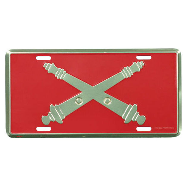 US Army Field Artillery Metal License Plate