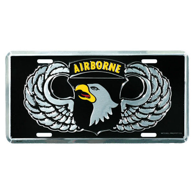 101st Airborne Metal License Plate - Indy Army Navy