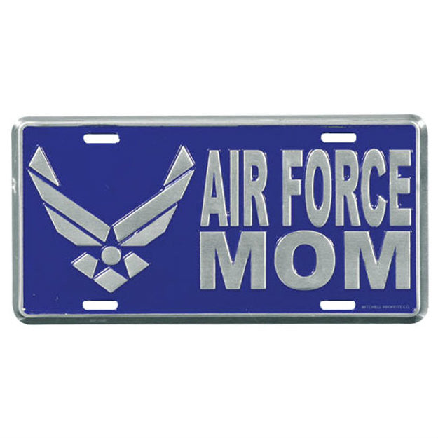 Air Force Mom Metal License Plate