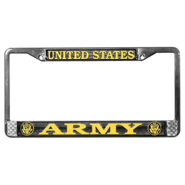 Army Metal License Plate Frame