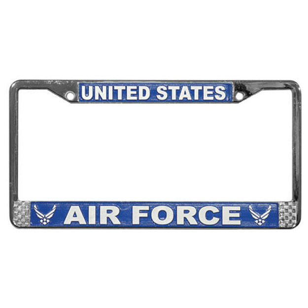 Air Force Wing Metal License Plate Frame