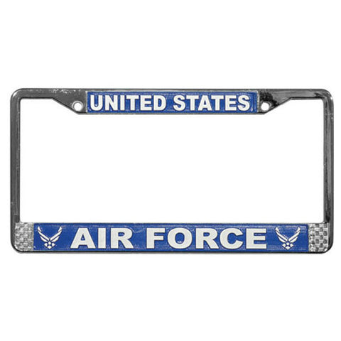 Air Force Wing Metal License Frame