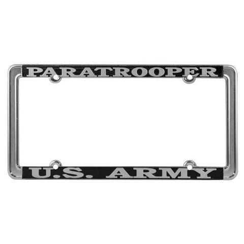 Army Paratrooper Thin License Plate Frame