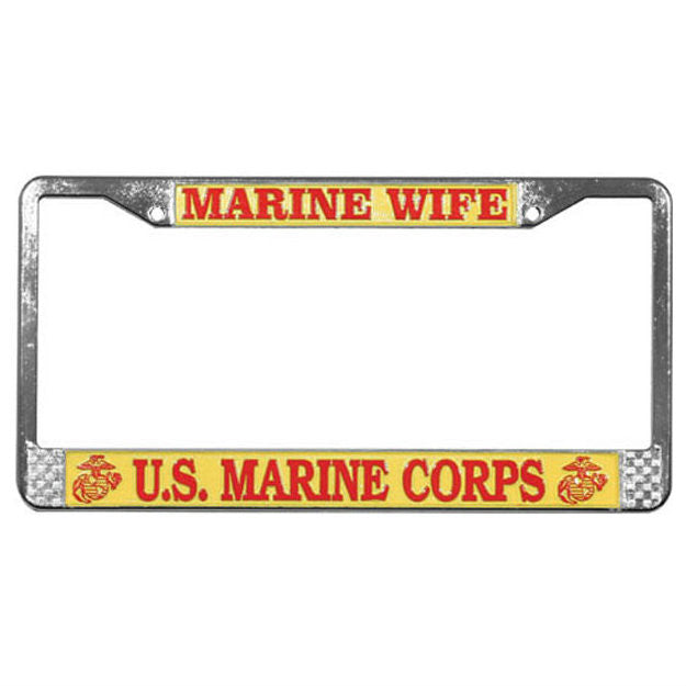 Marine Wife License Plate Frame