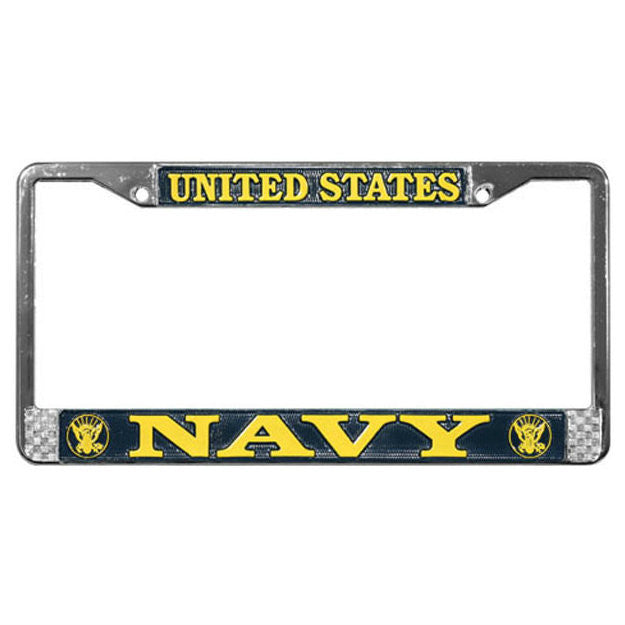 Navy Metal License Plate Frame - Indy Army Navy