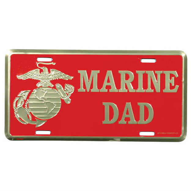 Marine Dad EGA Metal License Plate