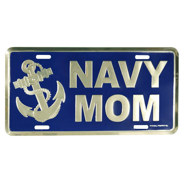 Navy Mom Metal License Plate - Indy Army Navy