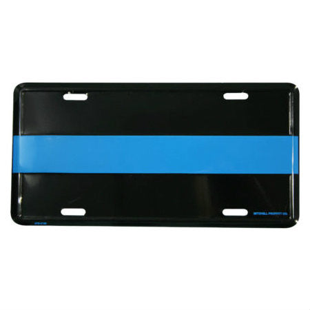 Police Thin Blue Line Metal License Plate