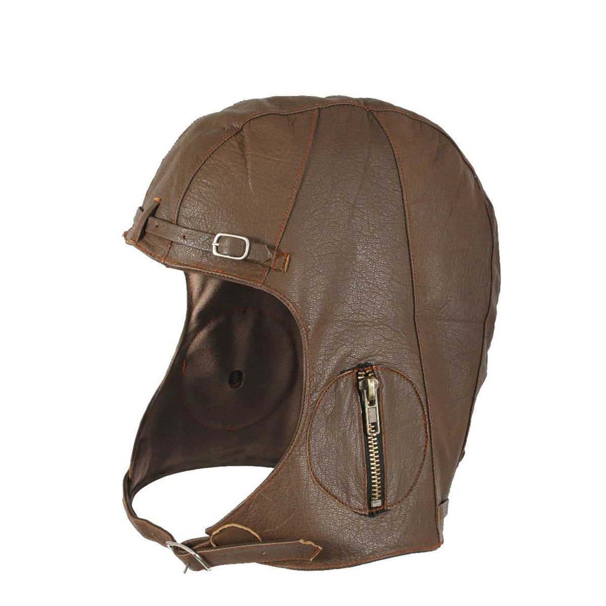 Leather WWII Style Pilot Helmet Brown